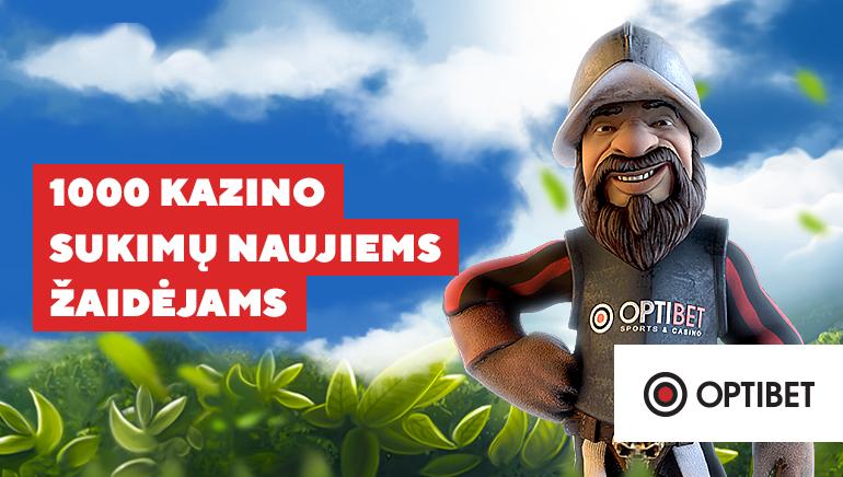 1000 nemokamų sukimų premija NetEnt lošimo automatams Optibet Casino Lithuania