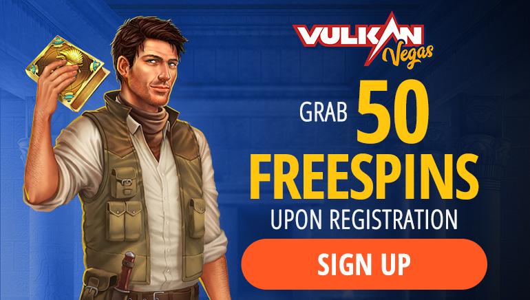 Vulkan Vegas Casino - BONUSŲ PAKETAS €1000 NEMOKAMŲ SUKIMŲ BONUSAS 125 + Nemokamų bonusas + BE DEPOZITO FS50 On Book of Dead