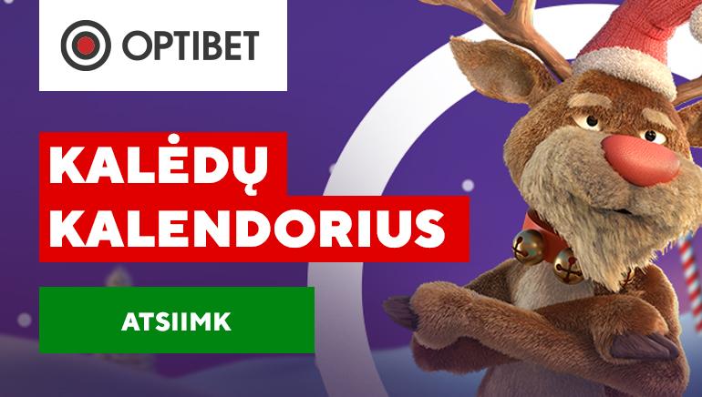 Kalėdinio kalendoriaus staigmenos Optibet Casino Lietuva