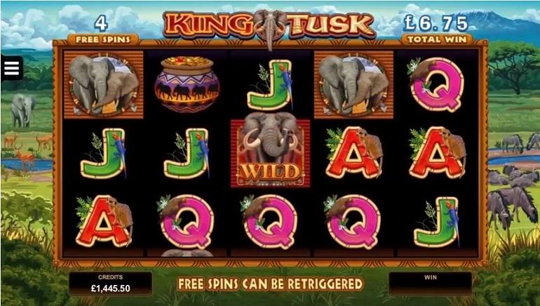 Pristatytas naujas dramblių tematikos lošimų automatas King Tusk