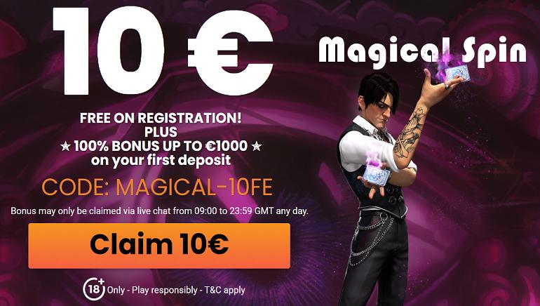 MagicalSpin pasitinka naujus žaidėjus su nemokamais 10 €