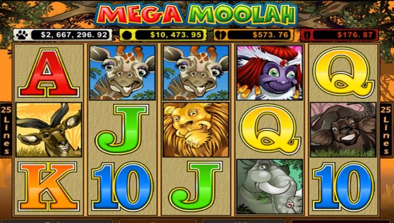 Spin Palace progresyviame aukso puodo žaidime Mega Moolah buvo laimėta 6 905 670,81 eurų suma