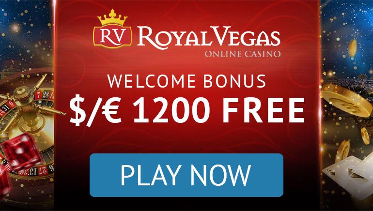 Royal Vegas - BONUSŲ PAKETAS €1200